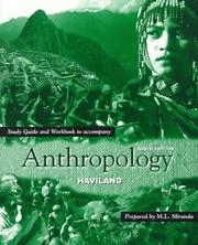 Cover of: Study Guide and Workbook to Accompany Anthropology