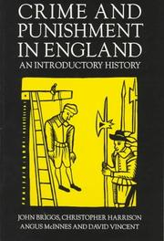 Cover of: Crime and Punishment in England, 1100-1990