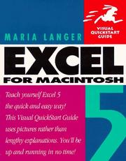 Cover of: Excel 5 for Macintosh