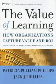 Cover of: The Value of Learning