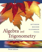 Cover of: Algebra and Trigonometry