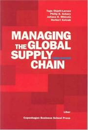 Cover of: Managing the Global Supply Chain
