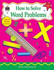 Cover of: How to Solve Word Problems, Grades 6-8