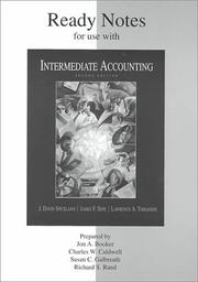 Cover of: Ready Notes for use with Intermediate Accounting