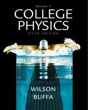Cover of: College Physics Volume 1