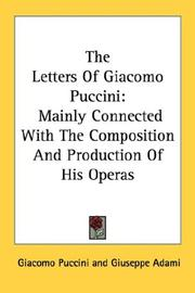 Cover of: Epistolario: mainly connected with the composition and production of his operas