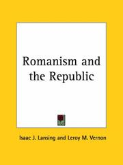 Cover of: Romanism and the Republic