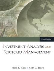Cover of: Investment Analysis and Portfolio Management (with Thomson ONE - Business School Edition)