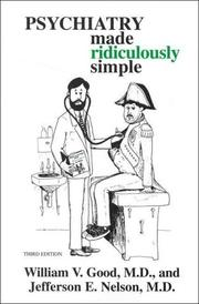 Cover of: Psychiatry Made Ridiculously Simple (MedMaster Series, 1999 Edition)
