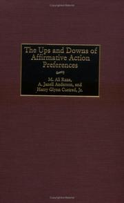 Cover of: The ups and downs of affirmative action preferences