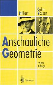 Cover of: Anschauliche Geometrie