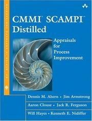 Cover of: CMMI(R) SCAMPI  Distilled