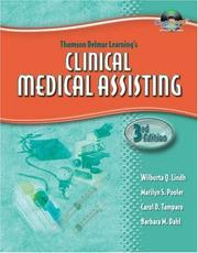 Cover of: Thomson Delmar Learnings Clinical Medical Assisting (Thomson Delmar's Learning's)