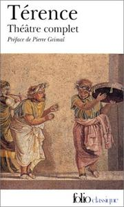 Cover of: Théâtre complet