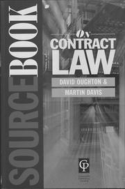 Cover of: Contract Law (Sourcebook)