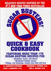 Cover of: Sugar Busters! Quick & Easy Cookbook