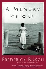 Cover of: A Memory of War (Ballantine Reader's Circle)