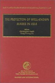 Cover of: The Protection of Well-Known Marks in Asia (Max Planck Series on Asian Intellectual Property Law, V. 1)