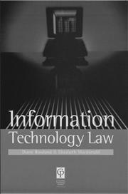 Cover of: Information Technology Law