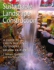 Cover of: Sustainable Landscape Construction