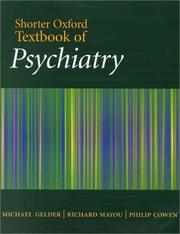 Cover of: Shorter Oxford Textbook of Psychiatry