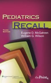 Cover of: Pediatrics Recall (Recall Series)