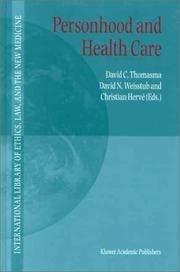 Cover of: Personhood and health care