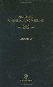 Cover of: Advances in Chemical Engineering, Volume 25 (Advances in Chemical Engineering)