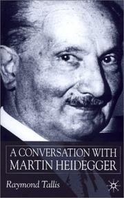 Cover of: A Conversation With Martin Heidegger