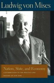 Cover of: Nation, State, And Economy