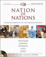 Cover of: Nation of Nations Concise Volume II with After the Fact Interactive USDA; MP: A Concise Narrative History of the American Republic