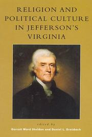 Cover of: Religion and Political Culture in Jefferson's Virginia