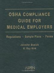 Cover of: Osha Compliance Guide For Medical Employers