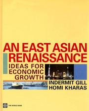 Cover of: An East Asian Renaissance