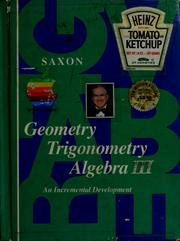 Cover of: Geometry Trigonometry Algebra III
