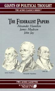 Cover of: The Federalist Papers (Audio Classics)