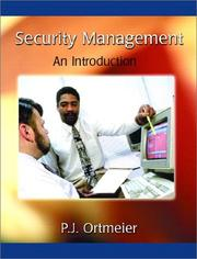 Cover of: Security Management