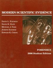 Cover of: Faigman, Kaye, Saks, Sanders and Cheng's Modern Scientific Evidence