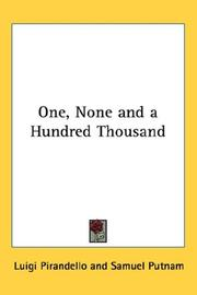 Cover of: One, None and a Hundred-Thousand: a novel
