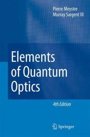 Cover of: Elements of Quantum Optics