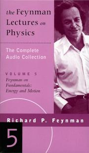 Cover of: The Feynman Lectures on Physics: Feynman on Fundamentals: Energy and Motion (Feynman Lectures on Physics)