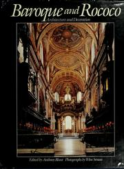 Cover of: Baroque and Rococo Architecture and Decoration