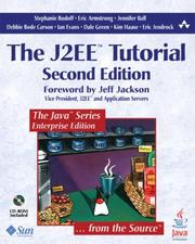 Cover of: The J2EE Tutorial, Second Edition