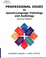 Cover of: Professional Issues in Speech-Language Pathology and Audiology