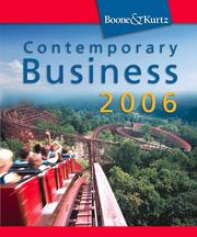 Cover of: Contemporary Business 2006 (with Audio CD-ROM and InfoTrac )
