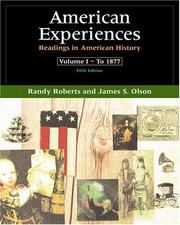 Cover of: American Experiences