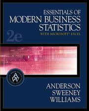 Cover of: Essentials of Modern Business Statistics with Microsoft  Excel (with CD-ROM and EasyStat Digital Tutor for Microsoft  Excel)