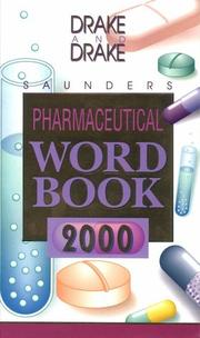 Cover of: Saunders Pharmaceutical Word Book, 2000