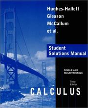 Cover of: Calculus, Single and Multivariable, Student Solutions Manual