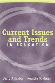 Cover of: Current Issues and Trends in Education
